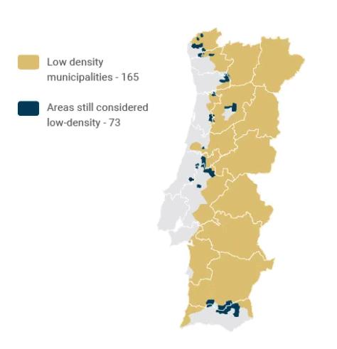 Golden Visa Portugal - Low density areas